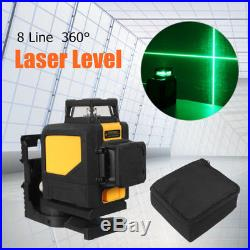 8 Line Mini 360° Laser Self Leveling Vertical&Horizontal Level Green Measurement