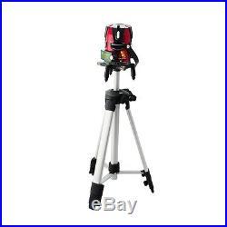 8 line Rotary Laser Beam Self Leveling Interior Exterior Laser Level Kit +Tripod
