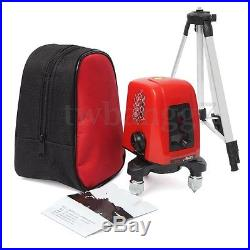 AK435 360 Degree Self-leveling Cross Laser Level Red 2 Line 1 Point With Tripod