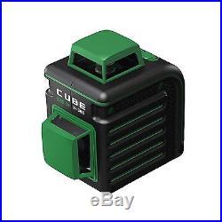 AdirPro Cube 360 Self Leveling GreenBeam Cross Line Laser Level Home Edition
