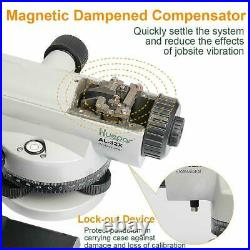Automatic Optical Level with Self-Leveling Magnetic Dampened Compensator 120m
