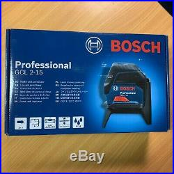 BOSCH GCL2-15 Self-Levelling Cross Line Laser + RM1 Rotating Magnetic Wall Mount