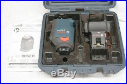 Bosch 360-Degree Self-Leveling Cross-Line Laser GLL 2-20 with Case (CR)