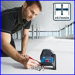 Bosch GCL215 Self Leveling Combi Cross Line Laser Level + RM1 Bracket + Bag