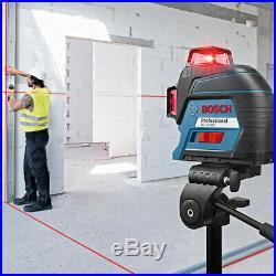 Bosch GLL3-300 360-Degrees 3-Plane Red Beam Self-Leveling Line Laser