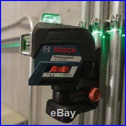 Bosch GLL3-330CG 360-Degrees 3-Plane Green Beam Self-Leveling Line Laser Kit