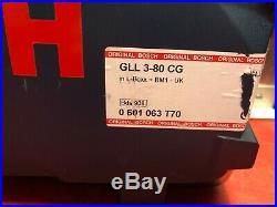 Bosch GLL3-80CG 12v 1x2.0Ah Li-ion Multi Line Green Laser BM1 0601063T70