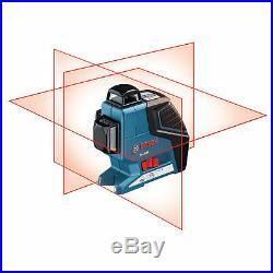 Bosch GLL3-80P 360° 3-Plane Leveling Alignment Line Laser Level Combo L-Boxx2