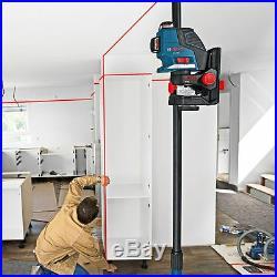 Bosch GLL3-80P Leveling Alignment Line Laser + BM1 Holder + LR2 Receiver Combo