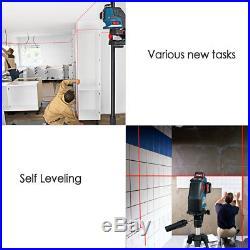 Bosch GLL3-80P Triple Plane 360-degree Self Leveling Line Laser Power Measuring
