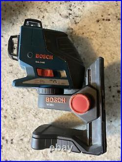 Bosch GLL3-80 Red Self-Leveling 3-Plane Laser Level + WM1 Bracket