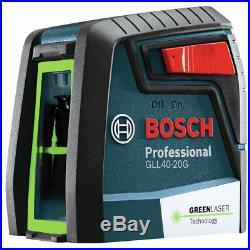 Bosch GLL40-20G Self-Leveling Cross-Line Laser (Green) New