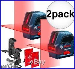 Bosch GLL50-RT Self-Leveling Cross-Line Laser Kit Factory Refurbished 2x New