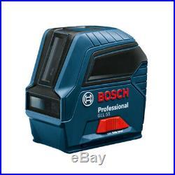 Bosch GLL55 33-Foot Range Self-Leveling Cross Line laser with Magnetic Bracket