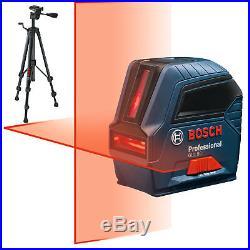 Bosch GLL55-X1 1.5v Self-Leveling Cross-Line Laser Kit with BT150 Tripod New