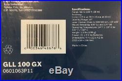 Bosch GLL 100 GX Green Beam Self-Leveling Cross Line Laser 100FT NEW SEALED
