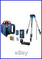 Bosch GRL1000-20HVK Self-Leveling Rotary Laser Kit With Case NEW