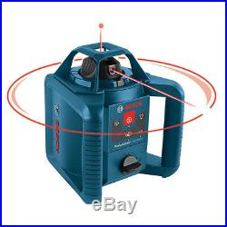 Bosch GRL245HVCK-RT Red Self-Leveling Rotary Laser Level Kit Reconditioned