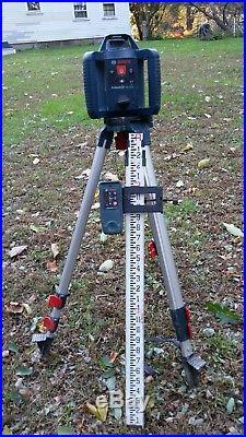 Bosch Laser Level Kit Tripod 800 ft. Self Leveling Rotary (5 Piece) GRL 240 HV