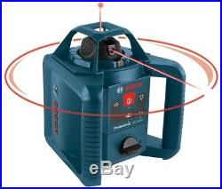 Bosch Self-Leveling Rotary Laser Level Complete Kit Measuring Tool (5 Piece)
