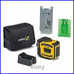 BrandNew Stabila 03185 LAX300G Green Beam Cross Line Plus Plumb Dots Laser Level