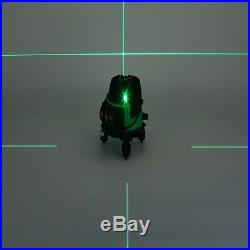 Bright Green Light Line Laser Level Self-Leveling 360° Rotation Measure Tool