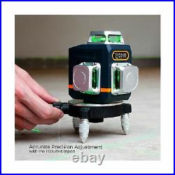 CIGMAN 3x360° Green Laser Level Tool Self Leveling 100ft for Construction and