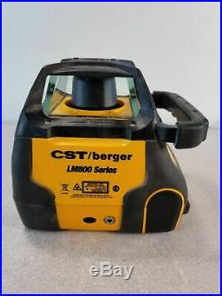 CST / Berger LM800GR Self-Leveling Dual-Grade Rotary Laser with Detector