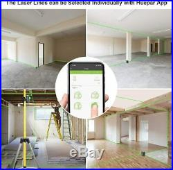 Cross Line Laser Level Green Beam 3D self leveling with Bluetooth Connectivity