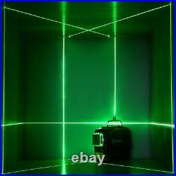 DEKO 360° Rotary 3D Green Laser Level 12 Lines Self Leveling Cross Measure Tool