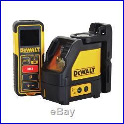DEWALT Cross Line Laser and 99 ft. Laser Distance Measurer Kit DW0889CG New