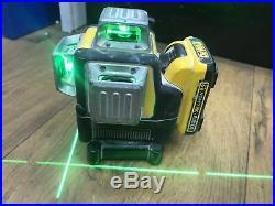 DEWALT DCE089D1G 10.8V GREEN MULTI LINE LASER 1x 2.0 AH Battery & No CHARGER