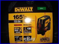 DEWALT DW0822 Self-Leveling Cross Line and Plumb Spot Laser New