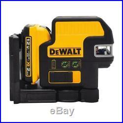 DEWALT DW0825LGR 12V 5 Spot + Cross Line 100 ft. Green Self-Leveling Laser Level