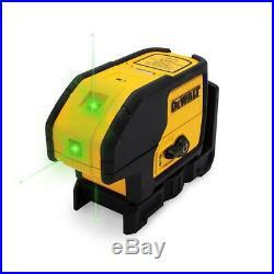 DEWALT DW083CGR 100-ft Green Self-Leveling 3-Spot Laser Level with Case