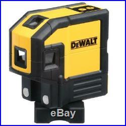 DEWALT DW0851R 165-ft Red Self-Leveling Spot Beams & Horizontal Line Laser Level