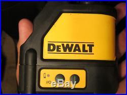 DEWALT DW088CG Self-Leveling Cross Line Green Laser Level in Case