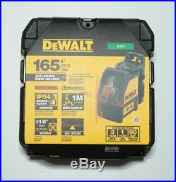 DEWALT DW088K Line Laser, Self-Leveling, Cross Line Red Laser Beam 165' Range