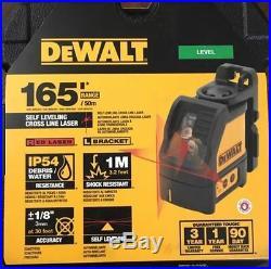 DEWALT DW088K Self-Leveling Line Laser Levelling Leveler in Kit Box