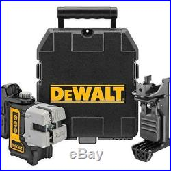 DEWALT DW089KR 50 ft. & 165 ft. Red Self-Leveling 3-Beam Cross Line Laser Level