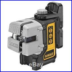 DEWALT DW089K Self-Leveling 3-Beam Line Laser Levelling Leveler Tool US Version