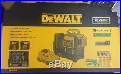 DEWALT DW089LG 3x 360 degree Self-Leveling Line Laser w charger battery GREEN