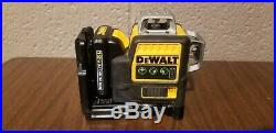 DEWALT DW089LG Green 3 Beam Line Laser with New Battery