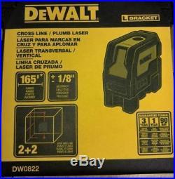 DEWALT US version DW0822 Self Leveling Cross Line & Plumb Spots Laser Level NEW