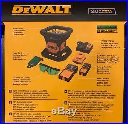 DeWALT DW079LG 20-Volt Lithium-Ion 200 ft Green Self Leveling Rotary Laser NIB