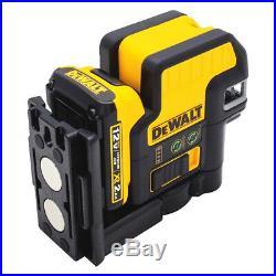 DeWALT DW0825LG 12-Volt 5-Spot Magnetic Cordless Cross Line Green Laser
