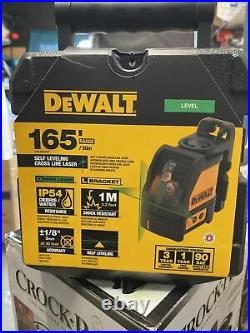 DeWALT DW088CG 165 ft. Green Self-Leveling Cross Line Laser Level