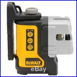 DeWALT DW089CG 3-Way IP54 Green Beam Self-Leveling Multi Line Laser Level
