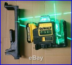 DeWalt DCE089D1G 10.8v 1x 2.0Ah Battery Li-Ion Self Level Multi Line Laser Green