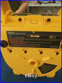 DeWalt DW074 Self-Leveling Interior/Exterior Rotary Laser